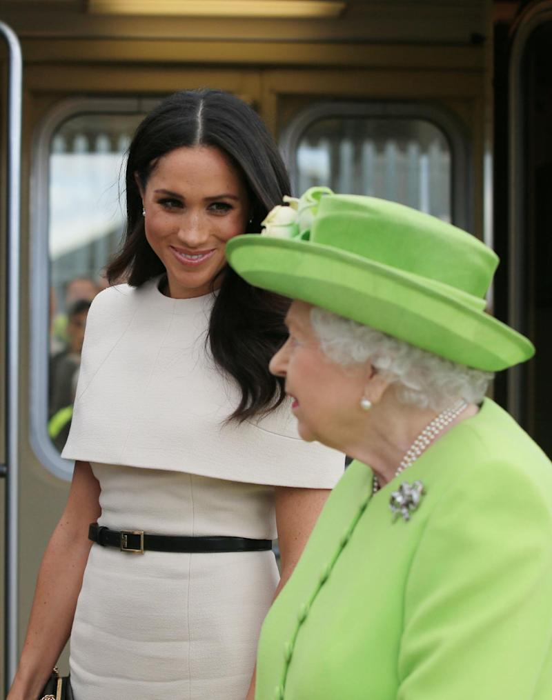 Queen Elizabeth II and the Duchess of Sussex paid a visit to Cheshire (PA)