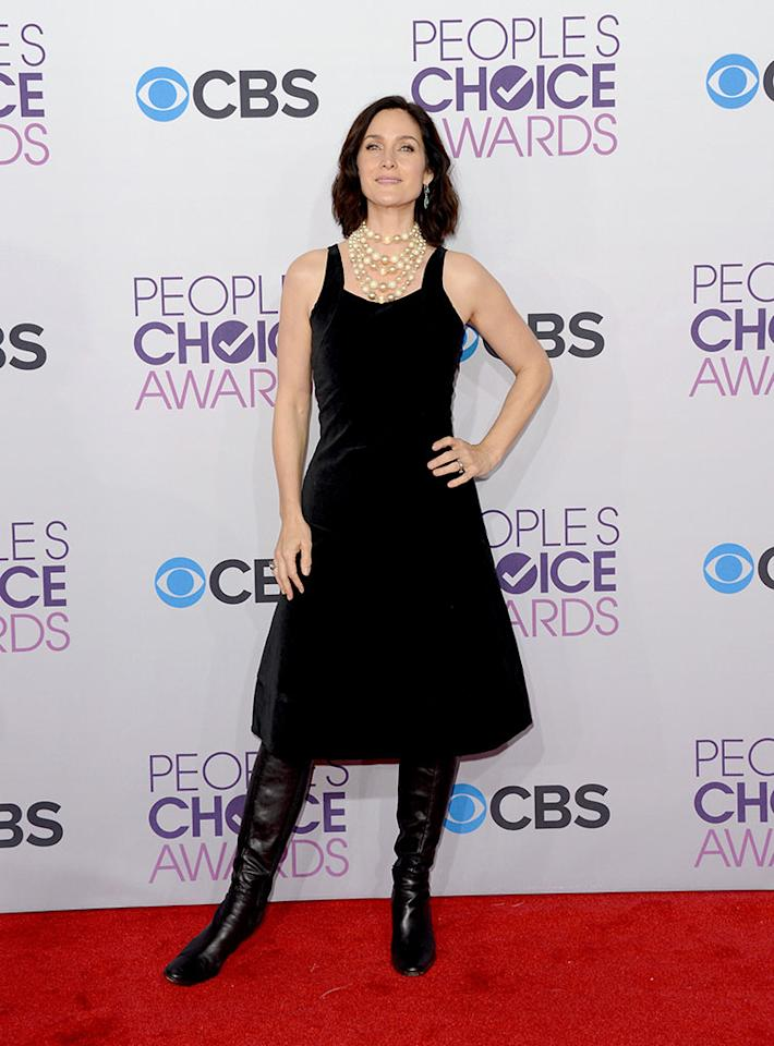 Carrie Anne Moss attends the 39th Annual People's Choice Awards at Nokia Theatre L.A. Live on January 9, 2013 in Los Angeles, California.