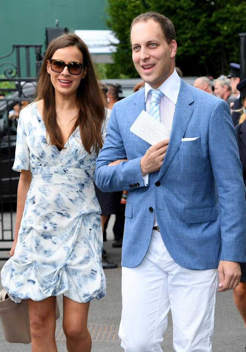 Maud Windsor is also attending Thomas's Battersea joining her distant cousin Prince George. Here her parents Lord and Lady Windsor are pictured at Wimbledon this year. Source: Getty