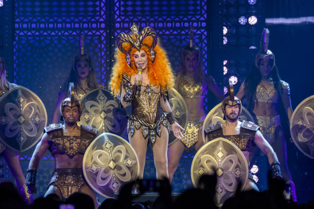 Cher performs during her 'Here We Go Again' tour at Little Caesars Arena on February 12, 2019 in Detroit, Michigan. (James Peyton/imageSPACE/MediaPunch /IPX)