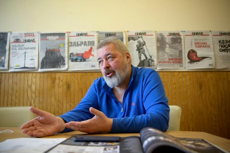 Dmitry Muratov said he has no doubt the 'chemical attack' was the latest attempt to silence the newspaper