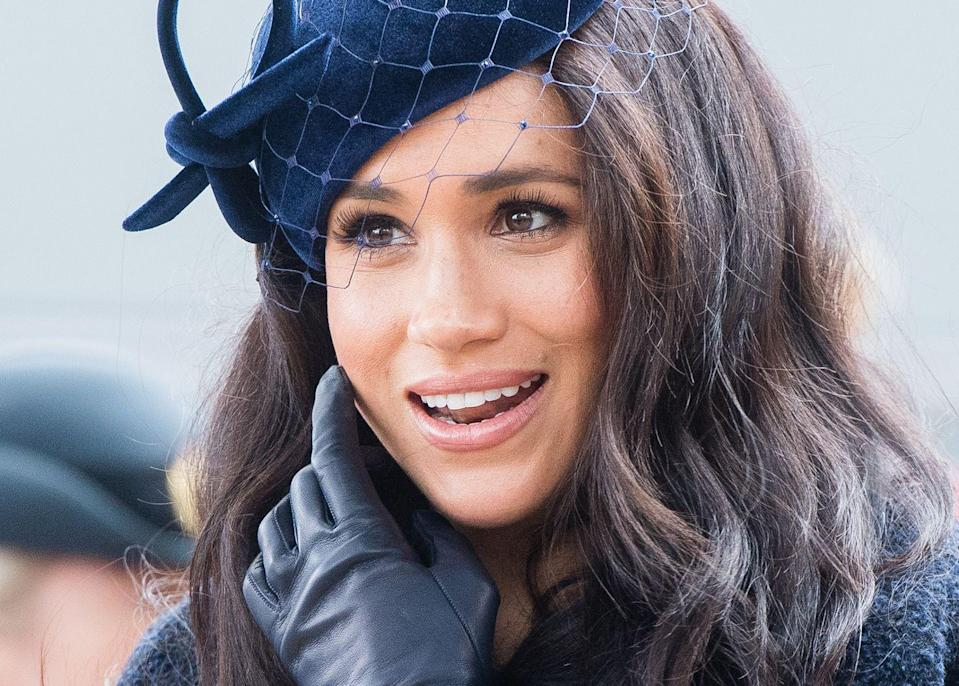 <p>Meghan at the 91st Field of Remembrance at Westminster Abbey.</p>