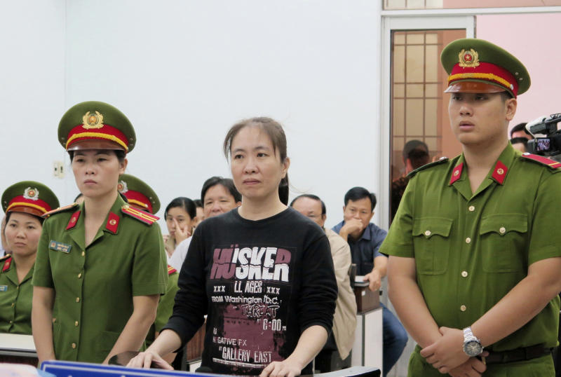 Vietnamese dissident Mother Mushroom freed, on way to US