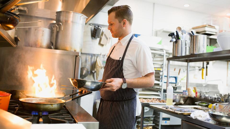 """<p><strong>Cook median salary:</strong> $23,970</p> <p><strong>Supervisors of cooks and servers median salary:</strong> $<span>52,030</span></p> <p><strong>Server median salary:</strong> $<span>20,820</span></p> <p>Forget a 9-to-5 workday in the restaurant and beverage scene. You can bet you'll work nights and weekends and will be picking up others' shifts, whether you're a manager, cook or server.</p> <p>It's hard to plan or even create any type of social life when your schedule is seldom the same. Say goodbye to your old life filled with people who work normal hours. Instead, you'll find your free time meshes better with those working in the business.</p> <p>According to the Department of Labor, restaurant managers often work more than 40 hours per week, as well as on short notice, including evenings, weekends and holidays. While night and weekend schedules can be ideal for those looking to <a rel=""""nofollow noopener"""" href=""""https://www.gobankingrates.com/making-money/weekend-jobs-side-gigs-boost-income/"""" target=""""_blank"""" data-ylk=""""slk:supplement income with a side job"""" class=""""link rapid-noclick-resp"""">supplement income with a side job</a>, it's not what most people want as their main source of income.</p> <p>For a position with better balance, consider becoming a manager of institutional food service facilities in schools, factories or office buildings, as they typically work traditional hours.</p>"""