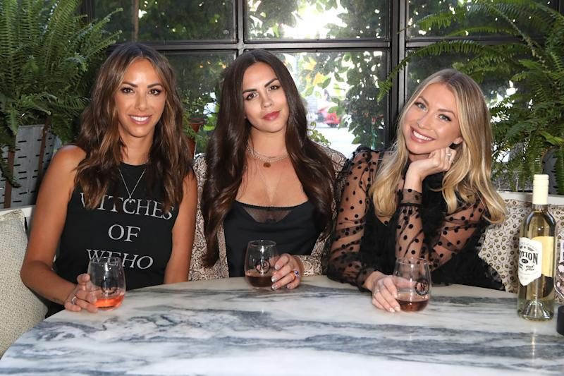Kristen Doute, Katie Maloney, and Stassi Schroeder promoting Witches of WeHo wine company