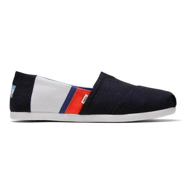 """<p><strong>TOMS Men's Footwear</strong></p><p>toms.com</p><p><strong>$54.95</strong></p><p><a href=""""https://go.redirectingat.com?id=74968X1596630&url=https%3A%2F%2Fwww.toms.com%2Fus%2Fmen%2Fshoes%2Fblack-white-color-blocked-mens-classic-alpargatas%2F10014485.html&sref=https%3A%2F%2Fwww.menshealth.com%2Fstyle%2Fg20087309%2Fmens-slip-on-shoes-summer%2F"""" rel=""""nofollow noopener"""" target=""""_blank"""" data-ylk=""""slk:BUY IT HERE"""" class=""""link rapid-noclick-resp"""">BUY IT HERE</a></p><p>You probably know Toms for its classic espadrille, and these have the same shape you know and love. But! They're made with a Cloudbound sole, which has a bit more traction than your standard beach shoe. </p>"""