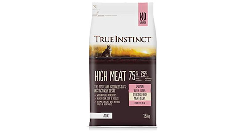 True Instinct High Meat Complete Dry Adult Cat Food Salmon and Tuna