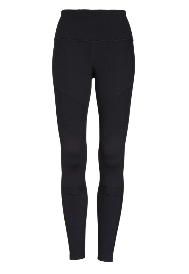 Zella Moto Ribbed High-Waist Ankle Leggings. Image via Nordstrom.