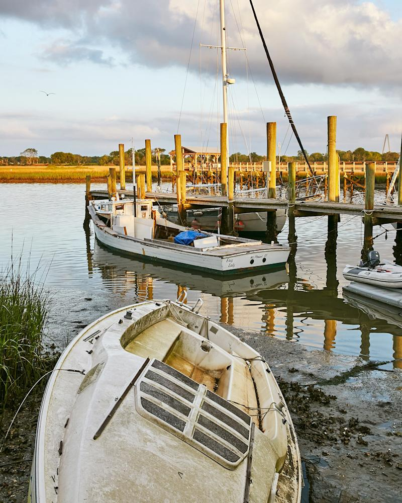 Fishing boats in Mount Pleasant, SC