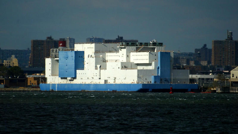 Image: The Vernon C. Bain Correctional Center, a prison barge off the coast of the Bronx, at Rikers Island. (David Howells / Corbis via Getty Images file)