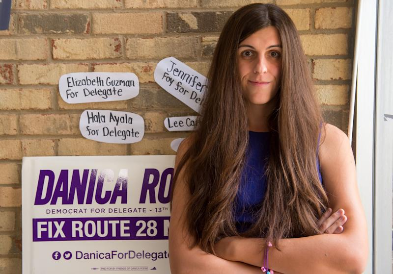 Danica Roem wins the Virginia delegate race. (PAUL J. RICHARDS via Getty Images)