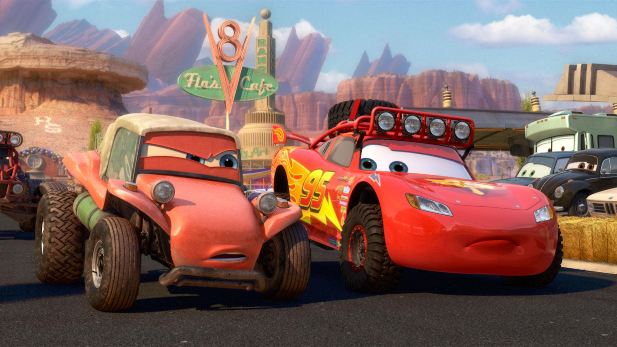 disney/pixar's 'cars' roar back in a new short