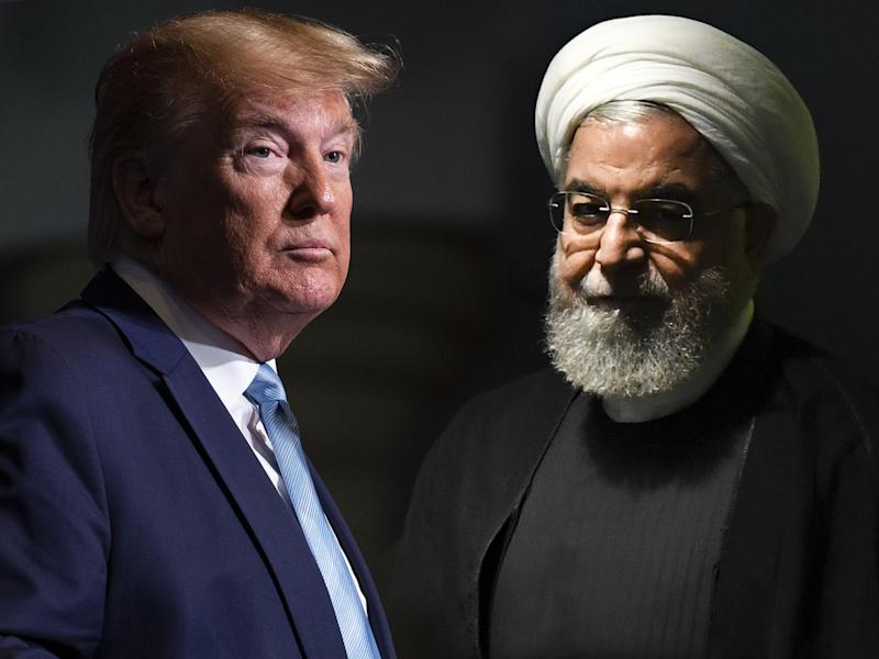 Presidents Donald Trump and Hassan Rouhani: AP/AFP/The Independent