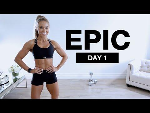"""<p>Grab your dumbbells and get stuck into this longer leg workout. We suggest bopping along to the tunes to distract you from the sweat.</p><ul><li><strong>How long? </strong>45 minutes</li><li><strong>Equipment: </strong>Dumbbells</li></ul><p><a href=""""https://www.youtube.com/watch?v=c_-v1fYJGO8&ab_channel=CarolineGirvan"""" rel=""""nofollow noopener"""" target=""""_blank"""" data-ylk=""""slk:See the original post on Youtube"""" class=""""link rapid-noclick-resp"""">See the original post on Youtube</a></p>"""