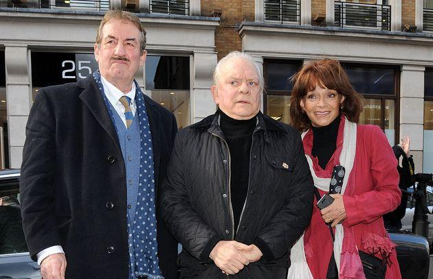 (L-R) John Challis, Sir David Jason and Sue Holderness, pictured in 2014 (Photo: Danny Martindale via Getty Images)