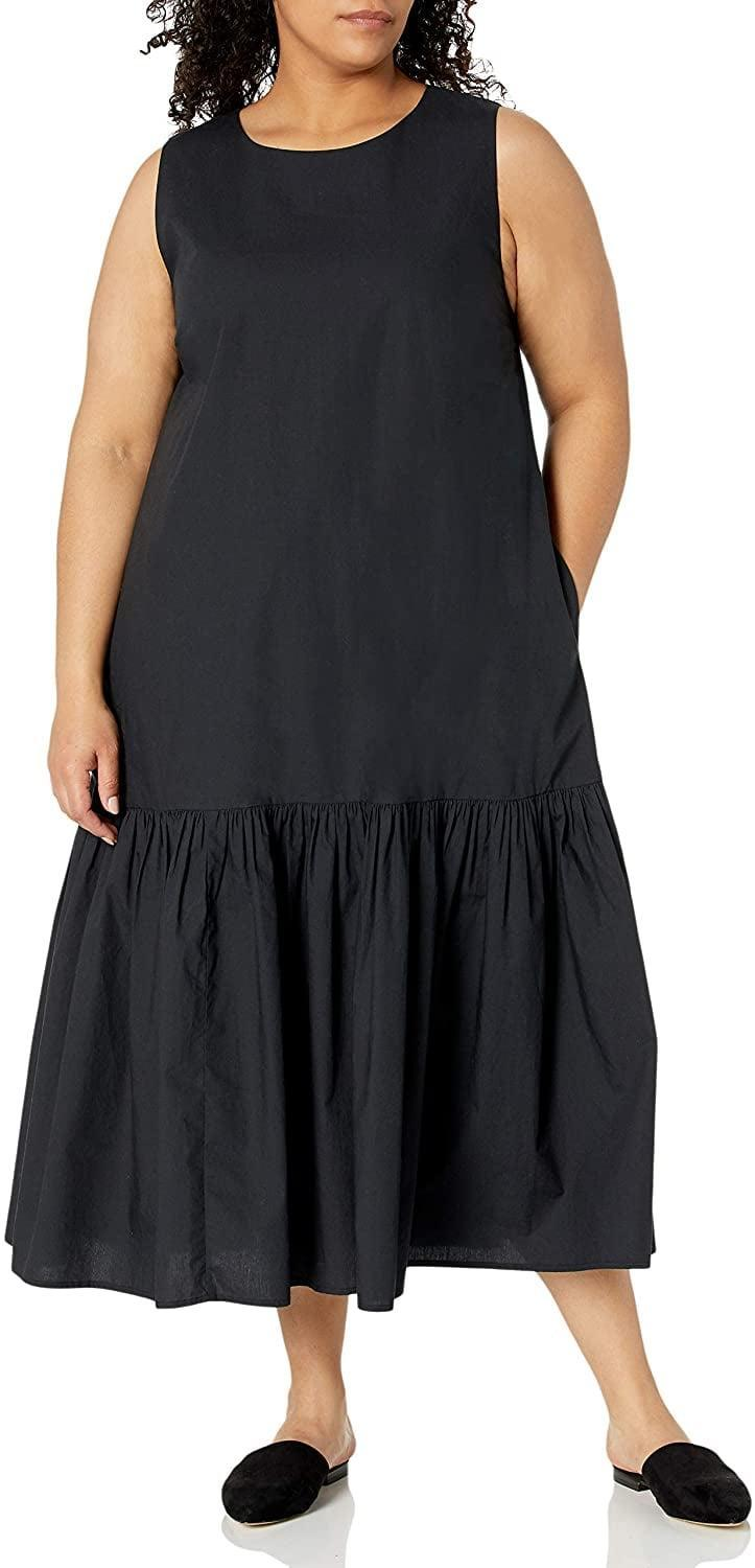 <p>This <span>The Drop Ilana Loose Sleeveless Wide-Hem Poplin Maxi Dress</span> ($60) has a look that is both easygoing yet put-together. We love it paired with sneakers, but we're totally wearing it with barely there sandals as well. </p>