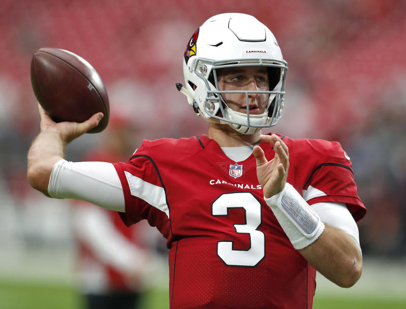 Arizona Cardinals quarterback Josh Rosen (3) has spoken out about issues outside of football. (AP)
