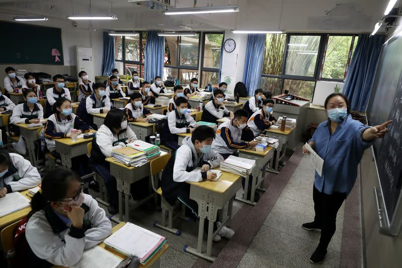 China's Wuhan says all schools to reopen on Tuesday