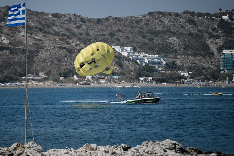 The third teenager is in critical condition in a hospital on the island (AFP via Getty Images)