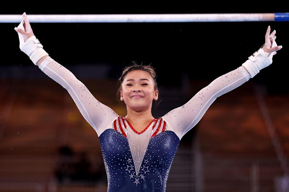 Sunisa Lee competes in the 2020 Tokyo Olympics