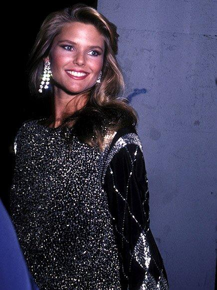 Always at the hottest events, Brinkley glowed in a silver dress and enormous earrings at the taping of 1982's <em>The Face of the '80s</em> television special.