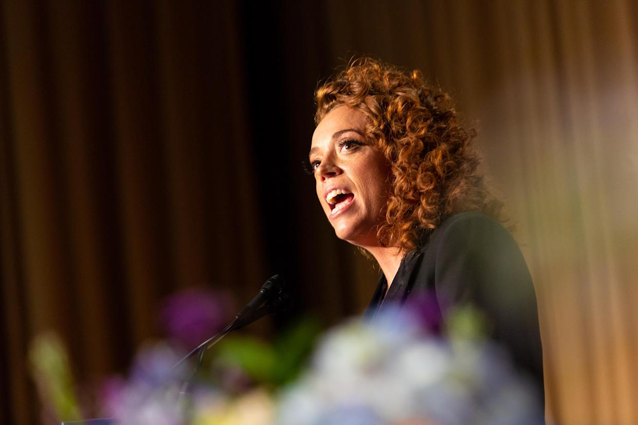 Comedian Michelle Wolf entertains guests at the White House Correspondents' Dinner on April 28. (Photo: Cheriss May/NurPhoto via Getty Images)