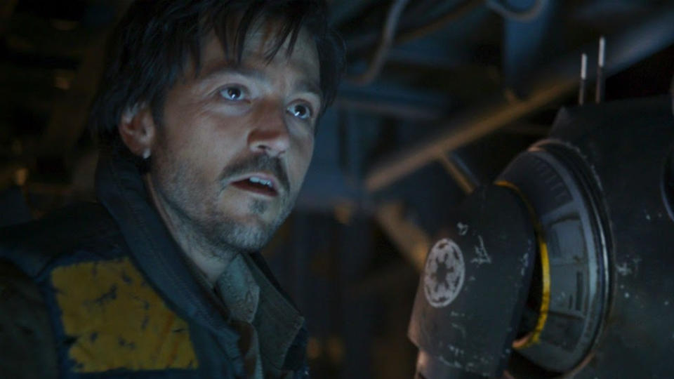 Diego Luna as Cassian Andor in 'Rogue One: A Star Wars Story'. (Credit: Lucasfilm/Disney)