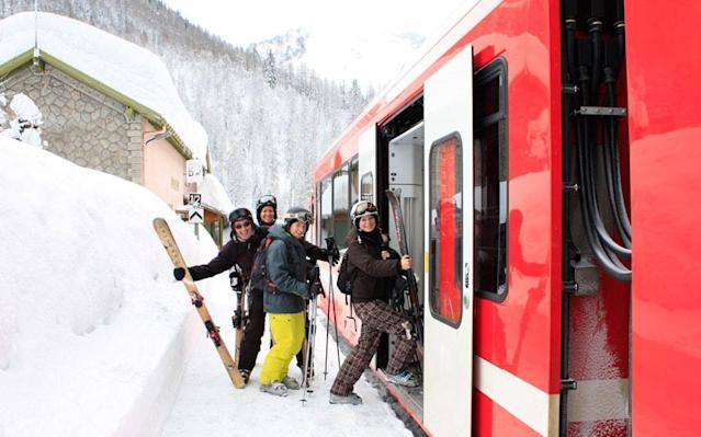 A number of ski resorts across Europe are easily accessed by rail