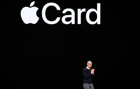 Tim Cook, CEO of Apple, speaks during an Apple special event at the Steve Jobs Theater in Cupertino, California, U.S., March 25, 2019. REUTERS/Stephen Lam