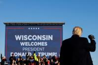 U.S. President Donald Trump holds a campaign rally in Green Bay, Wisconsin