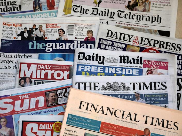 Reach, which publishers titles including the Daily Mirror and Daily Express, has announced 550 job losses: Getty Images