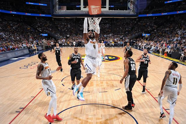 The Denver Nuggets faced an 0-2 hole late in the third quarter. That didn't happen. (Photo by Bart Young/NBAE via Getty Images)
