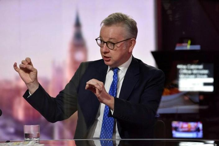 """Michael Gove said on Sunday he was still hopeful there would be an agreement, telling TV interviewers the door remained """"ajar"""" if the EU would change its position"""