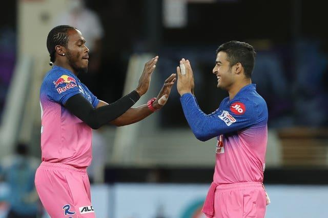 Jofra Archer, left, is the reigning MVP in the IPL (BCCI/PA)