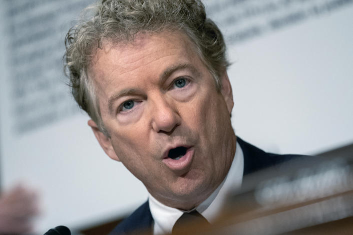 Sen. Rand Paul in the heated exchange Tuesday.