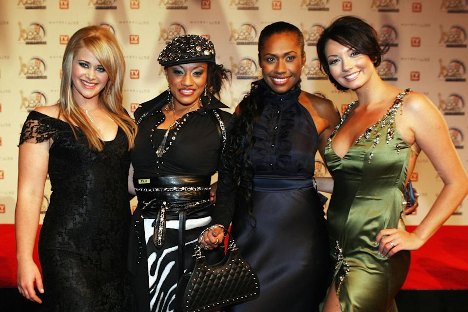 Former Australian Idol contestants and Young Divas bandmates Kate DeAraugo, Emily Williams, Paulini and Ricki-Lee Coulter arrive at the 48th Annual TV Week Logie Awards at the Crown Entertainment Complex May 7, 2006 in Melbourne, Australia