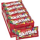 """<p><strong>Skittles</strong></p><p>amazon.com</p><p><strong>$32.04</strong></p><p><a href=""""https://www.amazon.com/dp/B00412DLD6?tag=syn-yahoo-20&ascsubtag=%5Bartid%7C2141.g.34414052%5Bsrc%7Cyahoo-us"""" rel=""""nofollow noopener"""" target=""""_blank"""" data-ylk=""""slk:Shop Now"""" class=""""link rapid-noclick-resp"""">Shop Now</a></p><p>These <a href=""""https://www.prevention.com/life/g34272741/best-halloween-movies/"""" rel=""""nofollow noopener"""" target=""""_blank"""" data-ylk=""""slk:Halloween staples"""" class=""""link rapid-noclick-resp"""">Halloween staples</a> are secretly plant-based, despite their shiny finish. (You were probably planning to buy these anyway.)</p>"""