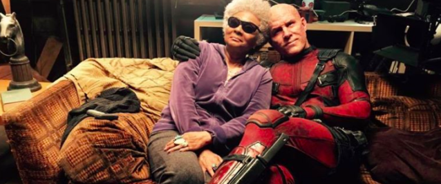 Ryan Reynolds strikes a pose with Leslie Uggams as Blind Al in a 'Deadpool 2' teaser he posted on Facebook