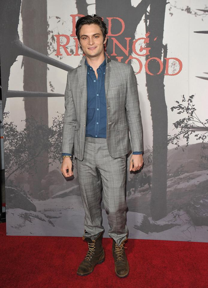 "<a href=""http://movies.yahoo.com/movie/contributor/1810180037"">Shiloh Fernandez</a> at the Los Angeles premiere of <a href=""http://movies.yahoo.com/movie/1810157569/info"">Red Riding Hood</a> on March 7, 2011."