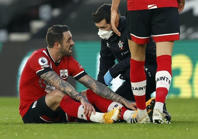 Danny Ings has suffered a probable hamstring injury