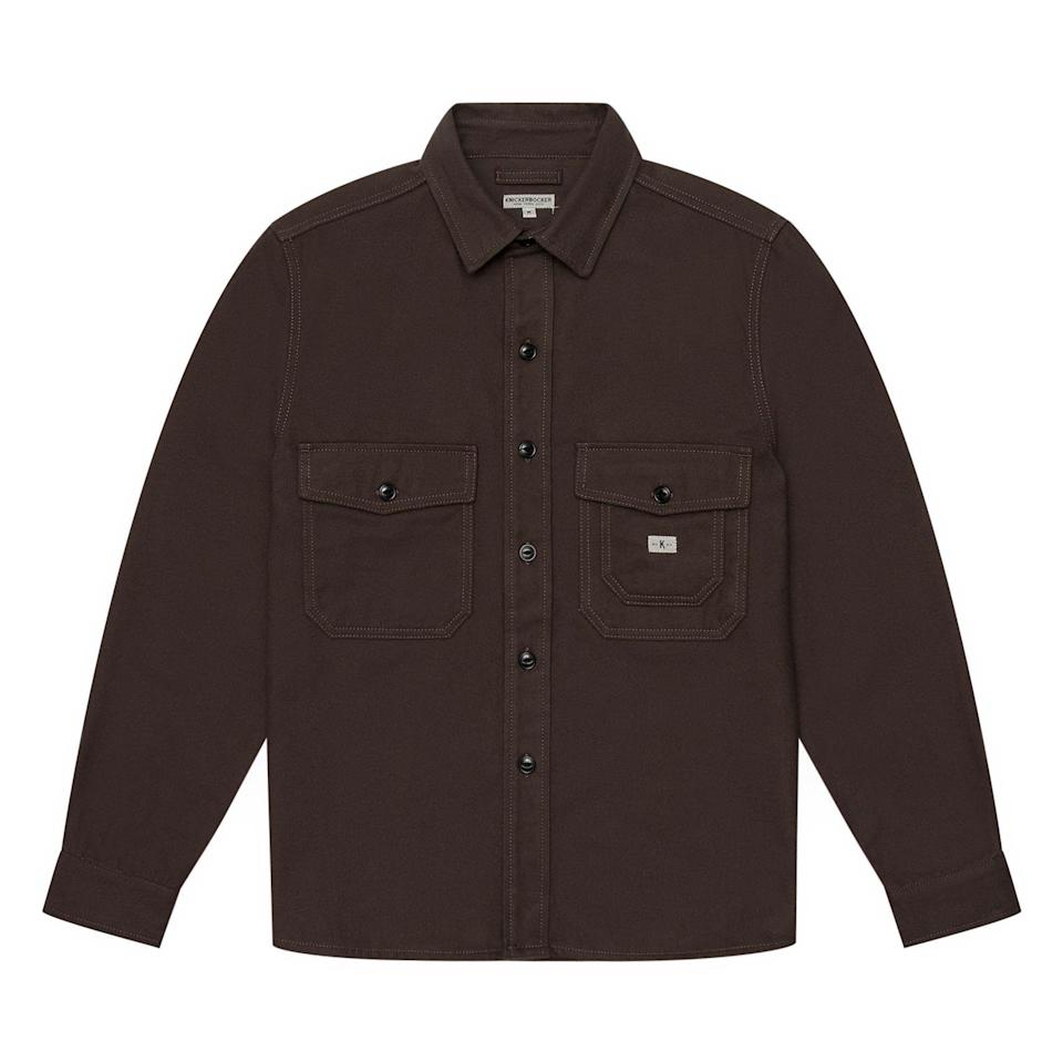 """<p><strong>Knickerbocker</strong></p><p>huckberry.com</p><p><strong>$295.00</strong></p><p><a href=""""https://go.redirectingat.com?id=74968X1596630&url=https%3A%2F%2Fhuckberry.com%2Fstore%2Fknickerbocker%2Fcategory%2Fp%2F65723-cpo-overshirt&sref=https%3A%2F%2Fwww.esquire.com%2Fstyle%2Fmens-fashion%2Fg34487003%2Fhuckberry-fall-mens-essentials%2F"""" rel=""""nofollow noopener"""" target=""""_blank"""" data-ylk=""""slk:Buy"""" class=""""link rapid-noclick-resp"""">Buy</a></p><p>I will never not be a sucker for the hefty, big-boy pockets on a good old fashioned CPO shirt. </p>"""