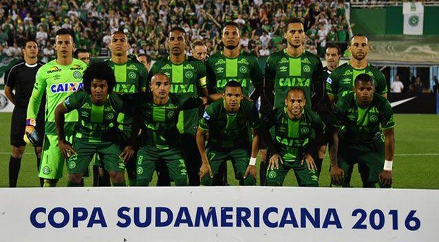 Players from the Chapecoense team. Source: Twitter