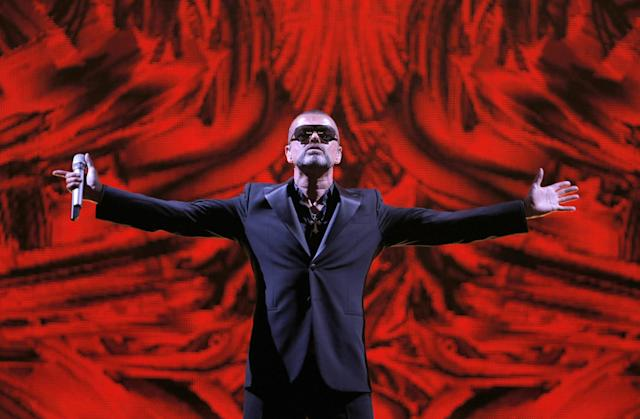 <p>Michael, who rocketed to stardom with WHAM! and went on to enjoy a long and celebrated solo career lined with controversies, has died, his publicist said Sunday, Dec. 25, 2016. He was 53. — (Pictured) British singer George Michael performs at a concert to raise money for the AIDS charity Sidaction, during the Symphonica tour at Palais Garnier Opera house in Paris, France in 2012. (AP Photo/Francois Mori) </p>