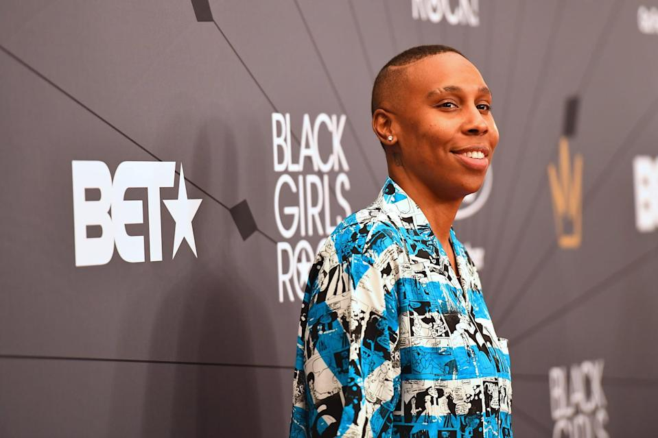 NEWARK, NJ - AUGUST 26:  Lena Waithe attends the Black Girls Rock! 2018 Red Carpet at NJPAC on August 26, 2018 in Newark, New Jersey.  (Photo by Paras Griffin/Getty Images for BET)