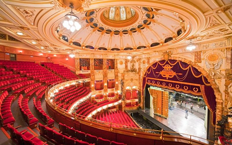 The lavish interior of London's Palace Theatre was intended to encourage people to linger - Getty
