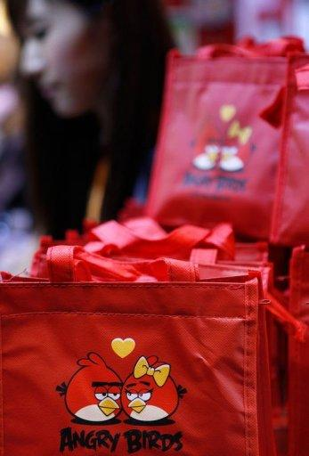 Bags containing newly released 'Angry Birds' mooncakes are seen at the Hong Kong Food Expo on August 14. The pastries are named after the popular Angry Birds mobile game and feature cartoonish, wingless birds
