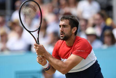 Tennis - ATP 500 - Fever-Tree Championships - The Queen's Club, London, Britain - June 23, 2018 Croatia's Marin Cilic in action during his semi final match against Australia's Nick Kyrgios Action Images via Reuters/Tony O'Brien