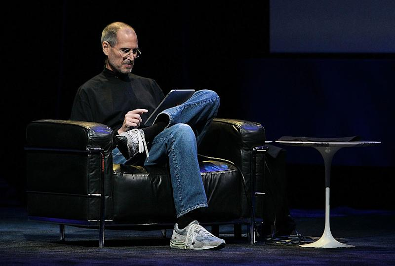 Steve Jobs was rarely seen sporting anything other than this basic, casual ensemble. (Photo: Getty)