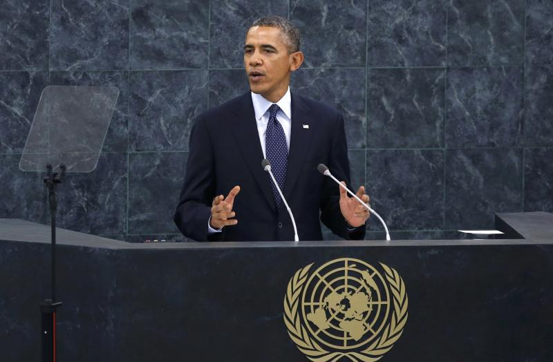 U.S. President Barack Obama addresses the 68th United Nations General Assembly at UN headquarters in New York