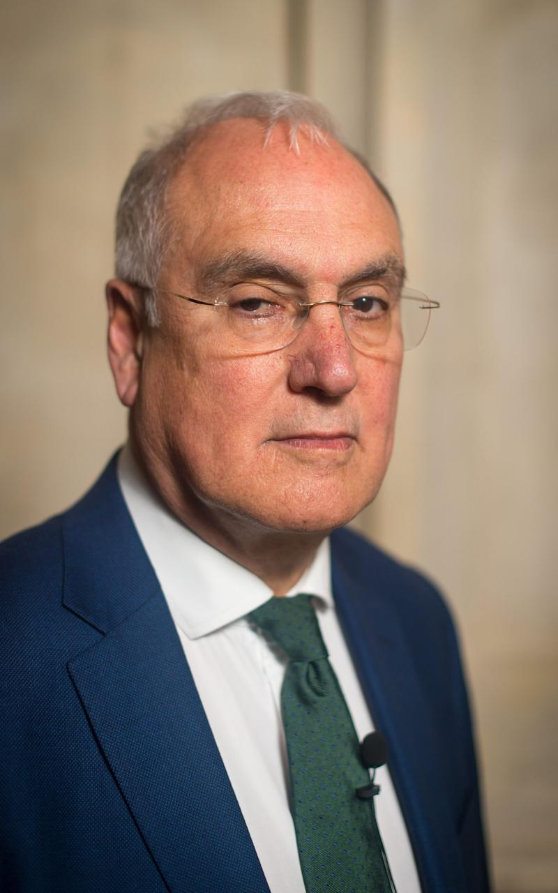 "Chief Inspector of Schools Sir Michael Wilshaw, who has said England's education system is like the national football team - ""better than many, but hardly top notch"" - Credit: PA"